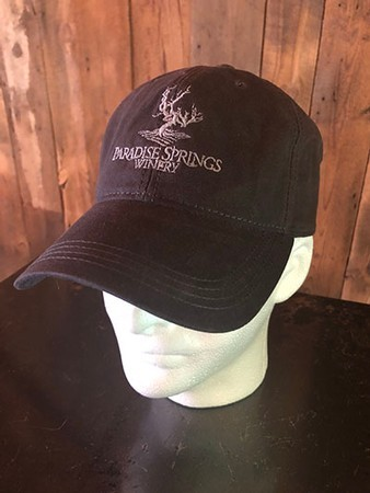 Faded Black Adjustable Back Logo Hat